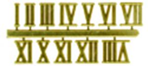 "Picture of NUMERALS-LGE ROMAN GOLD 3/4"" -19MM"