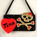 Picture of BABYDOLL SKULL PLAQUE