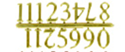 "Picture of NUMERALS-GOLD ARABIC 1"" -25MM"