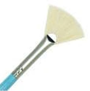 Picture of White Bristle Fan Brush
